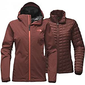 The North Face Thermoball Triclimate Jacket Women (X-Small, Barolo Red Heather)