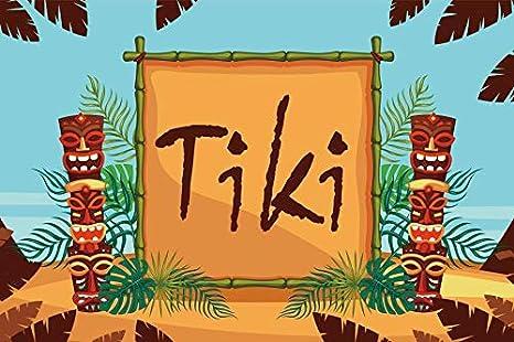 Amazoncom Leyiyi 10x65ft Tiki Bar Backdrop Summer Party