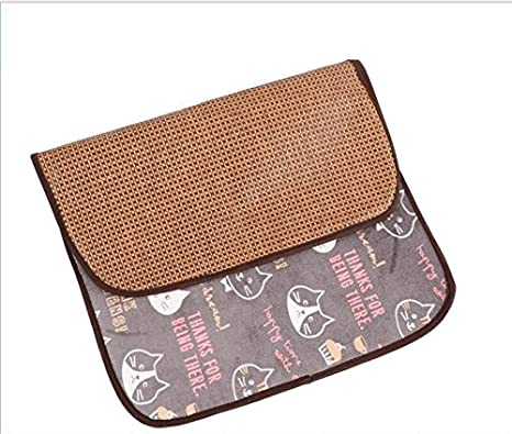 Xinjiener Summer Pet Mat Suministros para Mascotas Ice Pad Cat Sleeping Blanket Dog Cushion (Cat