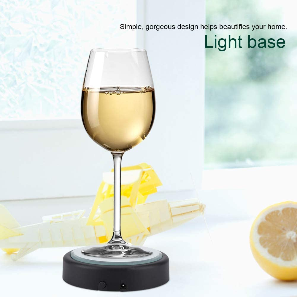 3D Multicolor 4 LED Light Lamp Base Stand Holder for Crystal Glass Art Decor Light Base Battery Operated Light Base for Crystal Art