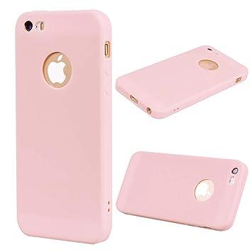 8d6e665a110 ASDJKL For Funda para iPhone SE / 5S / 5 con Color Caramelo con Textura,  Cubierta Trasera Ultrafina y Ligera, Funda Protectora TPU Suave (Color :  Pink): ...