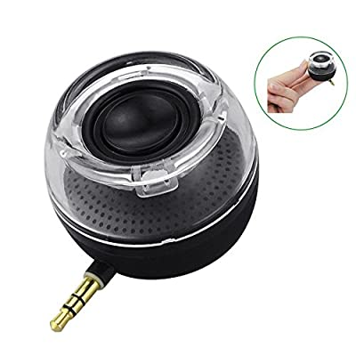 Leadsound HI5 Line-in Wireless Speakers, Crystal Portable mini Speaker with 3.5mm Aux Audio Jack Plug, Built-in Battery in Clear Bass Micro USB Port Audio Dock for Smart Phone, iPad, Computer
