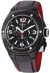 Alpina Men's AL352LBR5FBAR6 Analog Display Swiss Quartz Black Watch