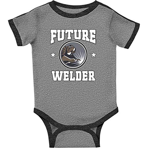 welding infant creeper 12 months ringer heather
