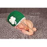 Baby Leprechaun 4 Leaf Clover Shamrock Hat