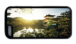 Hipster buy iPhone 5C cases golden pavilion temple TPU Black for Apple iPhone 5C