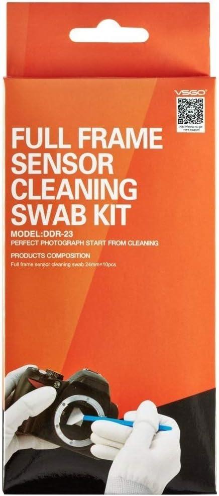 UES Kit de Limpieza de completo sensor de la DSLR cámara Digital (CCD/CMOS) 10 x Torunda 24 mm - Libre de polvo y envasados al vacío