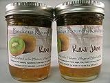 Kiwi Jan Two Jars Beckeys Kountry Kitchen Homemade Jam and Jelly, Handmade Fruit Spread, Fruit Preserves