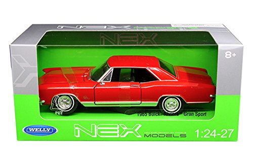 New 1:24 W/B WELLY COLLECTION - Red 1965 Buick Riviera Gran Sport Diecast Model Car By Welly