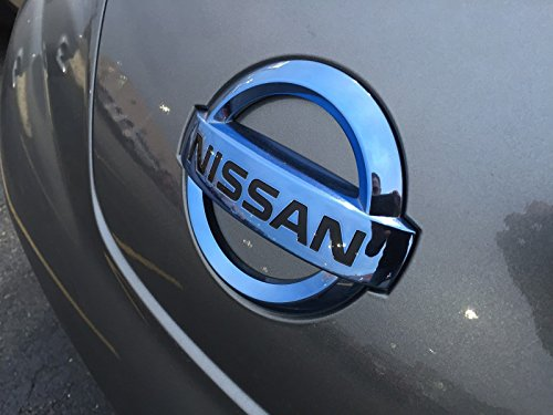 NEW OEM NISSAN LEAF FRONT GRILL EMBLEM 2011-2015 ICE BLUE COLOR