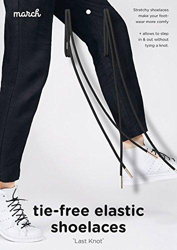 Tie-Free Elastic Shoelaces, Black, Long Style 39.4''