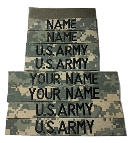 4 pieces ACU Name Tape & US Army Tape (with Fastener)