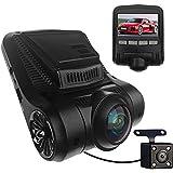 Dash Cam,FUNBOT Full HD 1080P 2.45 LCD 170 Degree Wide Angle Car Dashboard Camera Recorder with Rear Camera, 16GB MICROSD Card, Sony Video Sensor, G-Sensor, Night Vision, WDR, Loop Recording