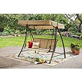 Mainstays 3 Seat Patio Porch Swing, Light