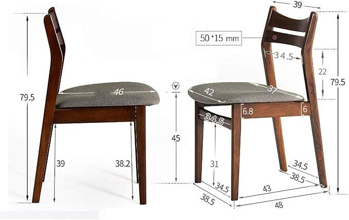 YZjk - Juego de 2 sillas de Comedor nórdicas con Patas de Madera ...