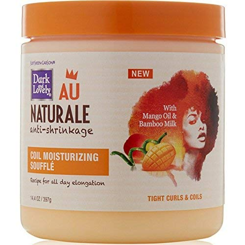 Dark and Lovely AU Naturale Anti-Shrinkage Coil Moisturizing Souffle 14.40 oz (Pack of 3)