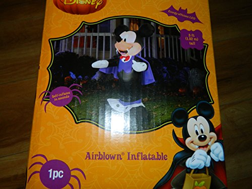Disney Vampire Mickey Airblown Lighted Inflatable - 5 ft -