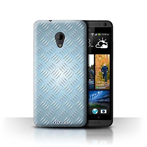 Coque de Stuff4 / Coque pour HTC Desire 700 / Bleu Design / Motif en Métal en Relief Collection