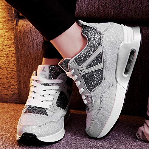 Pour Alikeey De tudiants Chaussures Augmentation Mode Porter Grey Dcontracts The Sport Shoe Running Femmes Souliers wrpSwz