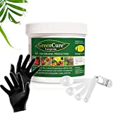 GreenCure Fungicide 8oz for Garden - Plants, Powdery Mildew Killer, Effective Against Rose Black Spot, Anthracnose, Downy Mildew with Hydro Empire Measuring Spoons and a Pair of Black Gloves