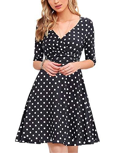 Alisa Pan Womens Dot Ptinted Wear to Work Office Career Dresses for Women 03632 US 16 ()