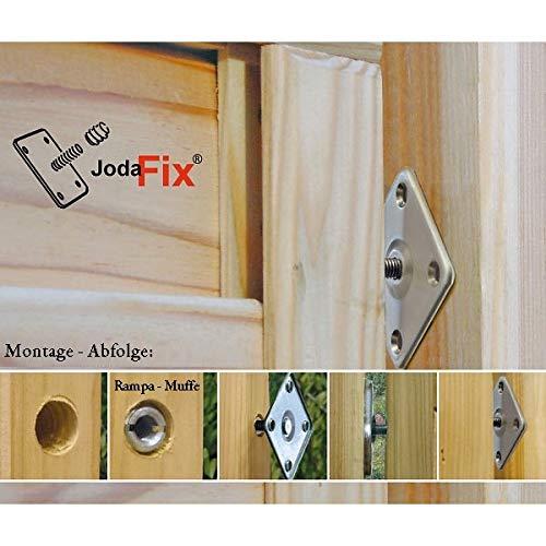 JodaFix Zaun-Befestigungs-Set aus Edelstahl