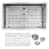 SINOGY 32'x19' Inch 10' Deep 16 Gauge Single Bowl Undermount Stainless Steel Kitchen Sink W/bottom Grid Sink Strainer