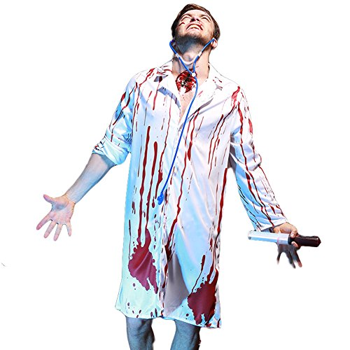 Hallowmax's Halloween The vampire Nurse Doctor Stage Costume Couples Suit ()