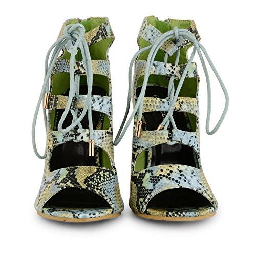 Footwear Sensation - Botas para mujer - Light Green Snake
