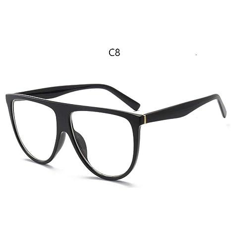 Amazon.com: ZLYZ Sunglasses Thin Flat Top Sunglasses Women ...