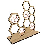 Natural Wood Dual Honeycomb Jewelry Earring Display Stand