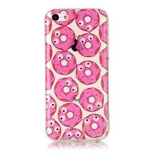 Custodia iPhone 5C , LH TPU Trasparente Silicone Cristallo Morbido Case Cover Custodie per Apple iPhone 5C