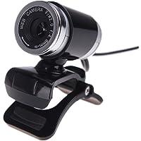Docooler USB 2.0 12 Megapixel HD Camera Web Cam with MIC Clip-on 360 Degree for Desktop Skype Computer PC Laptop Black