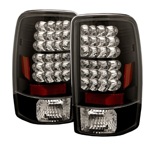 (Spyder Auto ALT-YD-CD00-LED-BK Chevy Suburban/Tahoe 1500/2500/GMC Yukon/Yukon XL/GMC Yukon Denali/Denali XL Black LED Tail Light)