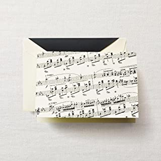 "product image for CRANE & CO. 10 - Sheet Music and Lined Envelopes on Ecruwhite Kid Finish Paper 3 13/16"" x 5 5/16"""