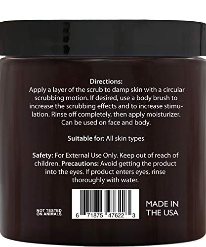 Brooklyn Botany Coffee Body Scrub - 100% Natural - Great for Face and Facial Scrub - Best Anti Cellulite & Stretch Mark Treatment, Spider Vein Therapy for Varicose Veins & Eczema- 10 oz 2