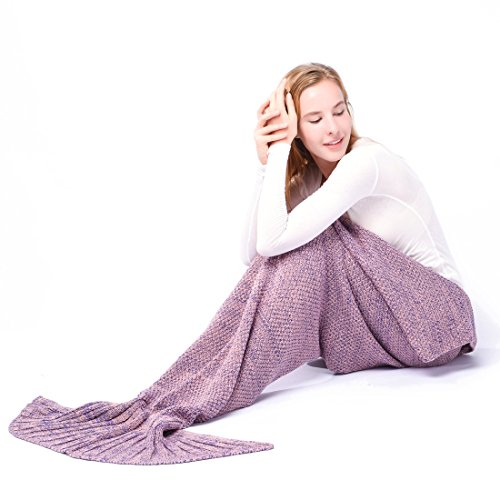 Costume Skin Lol (Mermaid Tail Blanket,Kyson Mermaid Crochet Blankets for Adults Kids, All Season Sleeping Bag Halloween Thanksgiving Christmas Gift (Adult, Mix))