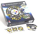Pittsburgh Steelers, Fun Set Includes Helmet Shaped Puzzle 500 Pieces, and a Steelers Playing Card Deck.