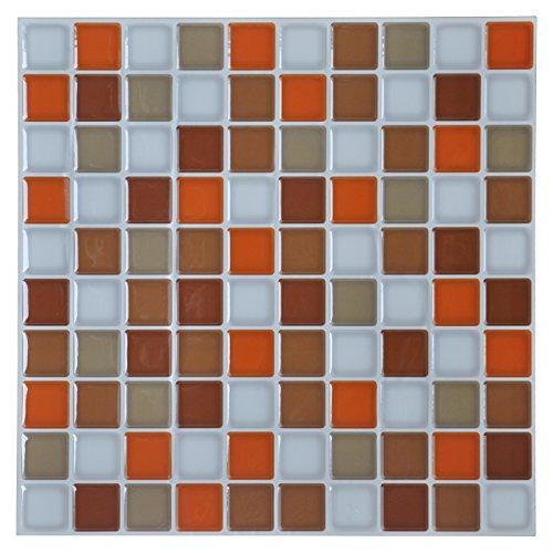 """Art3d Peel and Stick Backsplash Tile for Kitchen, Orange, 12"""" x 12"""" Pack of 6"""