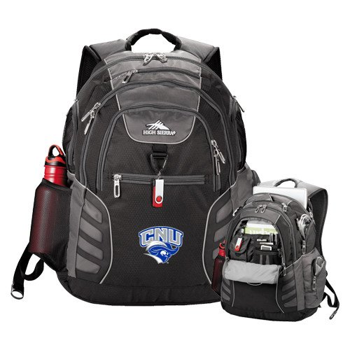 Christopher Newport High Sierra Big Wig Black Compu Backpack 'Official Logo' by CollegeFanGear