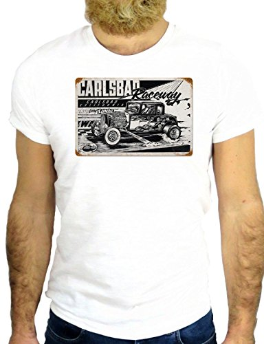 T SHIRT JODE Z2116 COOL STREET CAR CAR RACE 55 FOREVER USA AMERIC FUN GGG24 BIANCA - WHITE S