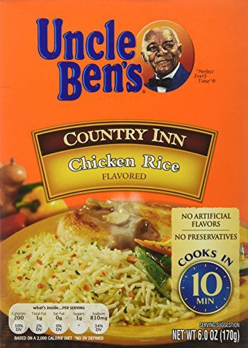Uncle Ben's Country Inn Chicken Rice Flavored (Pack of 6) 6.0 oz. each by Uncle Ben's