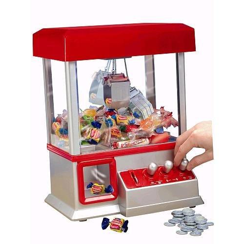 Toy Candy Machine (The Claw Mini Arcade Toy Grabber Machine with Sounds and Coins)