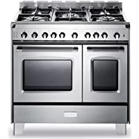 Verona VCLFSGG365DSS 36 Classic All Gas Range Double Oven Convection 5 Sealed Burners Full-Width Storage Stainless Steel