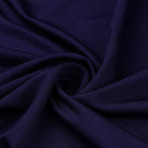 Donne Sex Appeal Floreale Abito Asso V Principessa Divise Le A Partito L Per Con Scuro Blu Vestiti Scollo qqPzHr