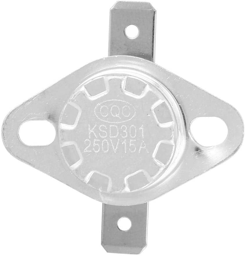80℃ 150 ℃ Interrupteur de Thermostat Interrupteur de Commande de Temp/érature Ferm/é Normal KSD301 5pcs Thermostat 250V 15A 40 ℃