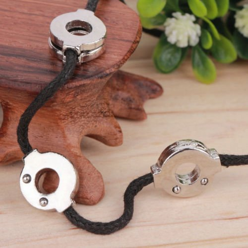 Alicenter(TM) Anime Naruto Akatsuki Uchiha Titanium Steel Itachi Cosplay 3 Loops Necklace