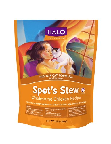 Halo Spot's Stew Indoor Cat Wholesome Chicken Recipe, 11-1/2-Pound, My Pet Supplies