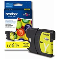 Brother LC61Y Ink Cartridge -325 Retail Packaging-Yellow