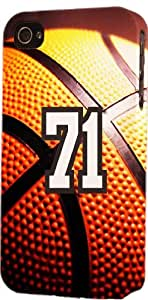 Basketball Sports Fan Player Number 71 Plastic Snap On Decorative iphone 6 4.7 Case
